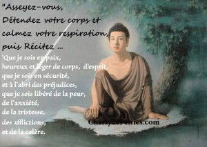 bouddha assis meditation