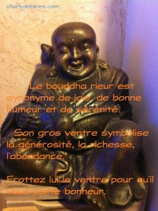 bouddha bronze rieur
